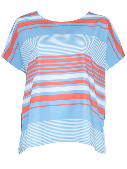 Plus Woven Front Tee Womens
