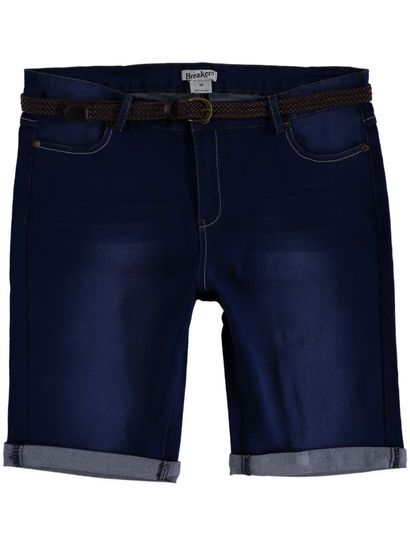 WOMENS BELTED DENIM SHORT
