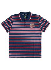 MENS NRL YARN DYED STRIPE POLO
