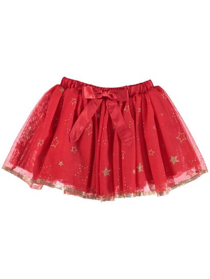 Toddler Girls Red Tulle Skirt