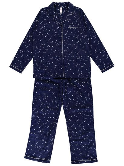 Brushed Flannel Pjs Ladies Sleepwear