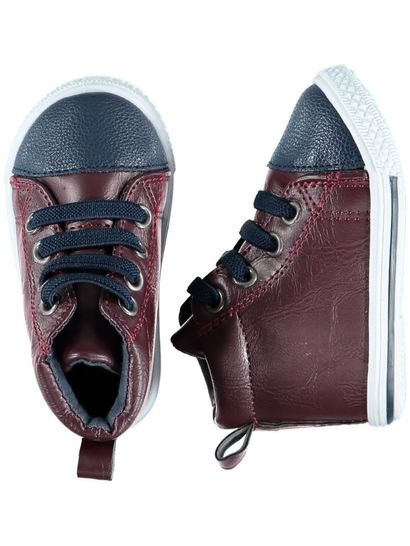 Baby Boy Maroon Hi-Top Trainer