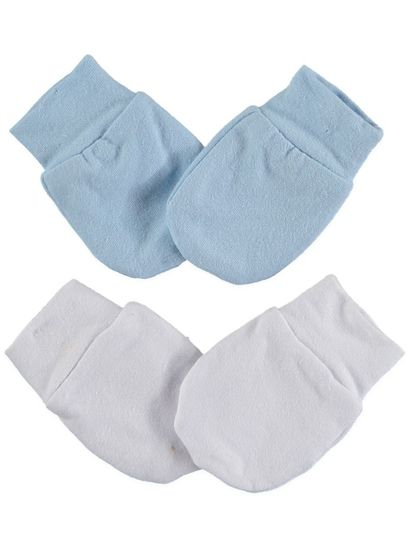 BABY 2PK COTTON ELASTANE BASIC MITTENS