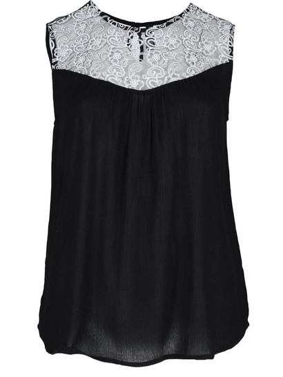 Plus Embroidered Tank Womens