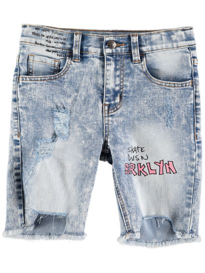 Boys Fashion Denim Short With Print
