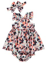 BABY DRESS AND BLOOMER