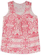 Plus Allover Print Pintuck Tank Womens