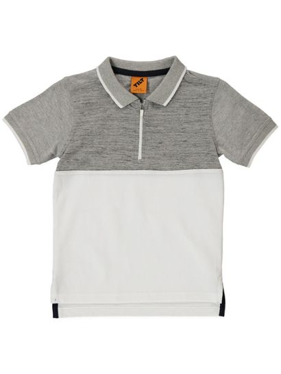 Boys Zipper Polo