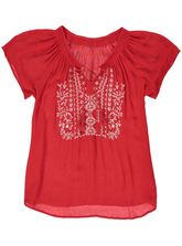 EMBROIDERED GYPSY TOP WOMENS
