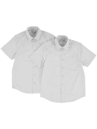Boys Pk 2 Short Sleeve School Shirt Premium