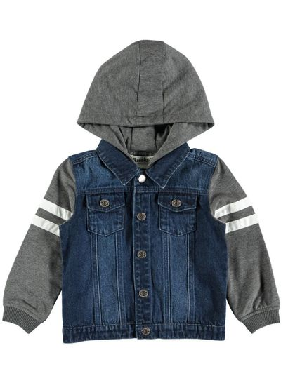 Boys Hooded Denim Jacket