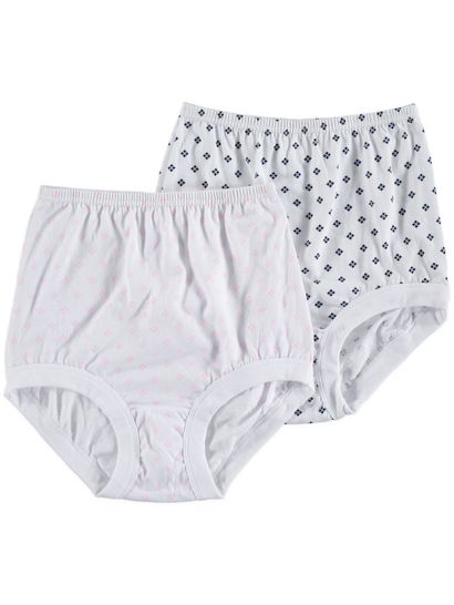 Full Brief Cotton 2Pk Rib Leg Womens