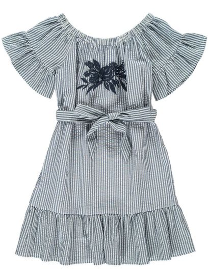Girls Woven Stripe Dress