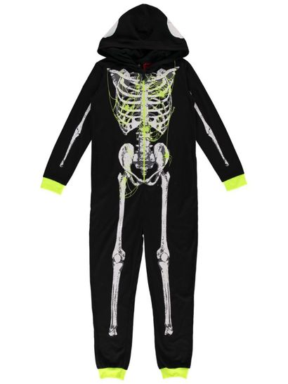 Boys Skeleton Knit Onesie