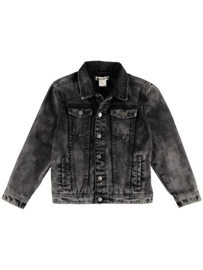 Boys Black Wash Denim Jacket
