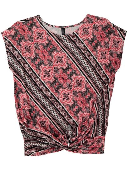 Plus Knot Front Tee Womens