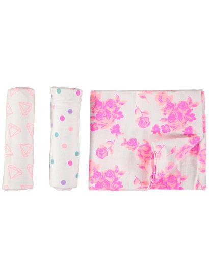 Baby Flannelette Wraps 3 Pack