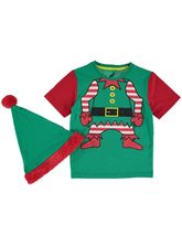 BOYS XMAS TEE & HAT SET