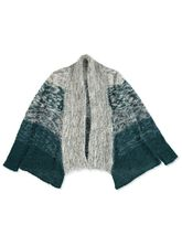 PLUS OMBRE EYELASH YARN CARDIGAN WOMENS