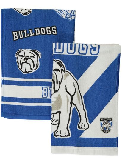 2Pk Bulldogs Velour Tea Towel