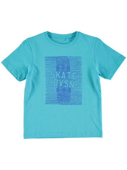 Boys Print Front Short Sleeve T-Shirt