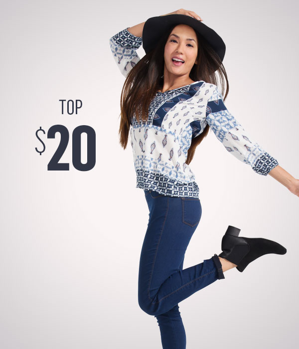 Women's fashion tops $20