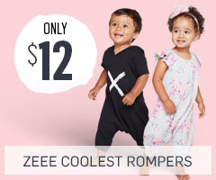 Zee Coolest Rompers only $12