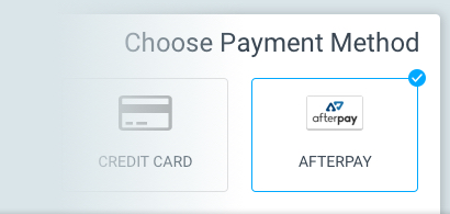 Simply select Afterpay in the payment options
