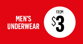 Men's underwear from $3