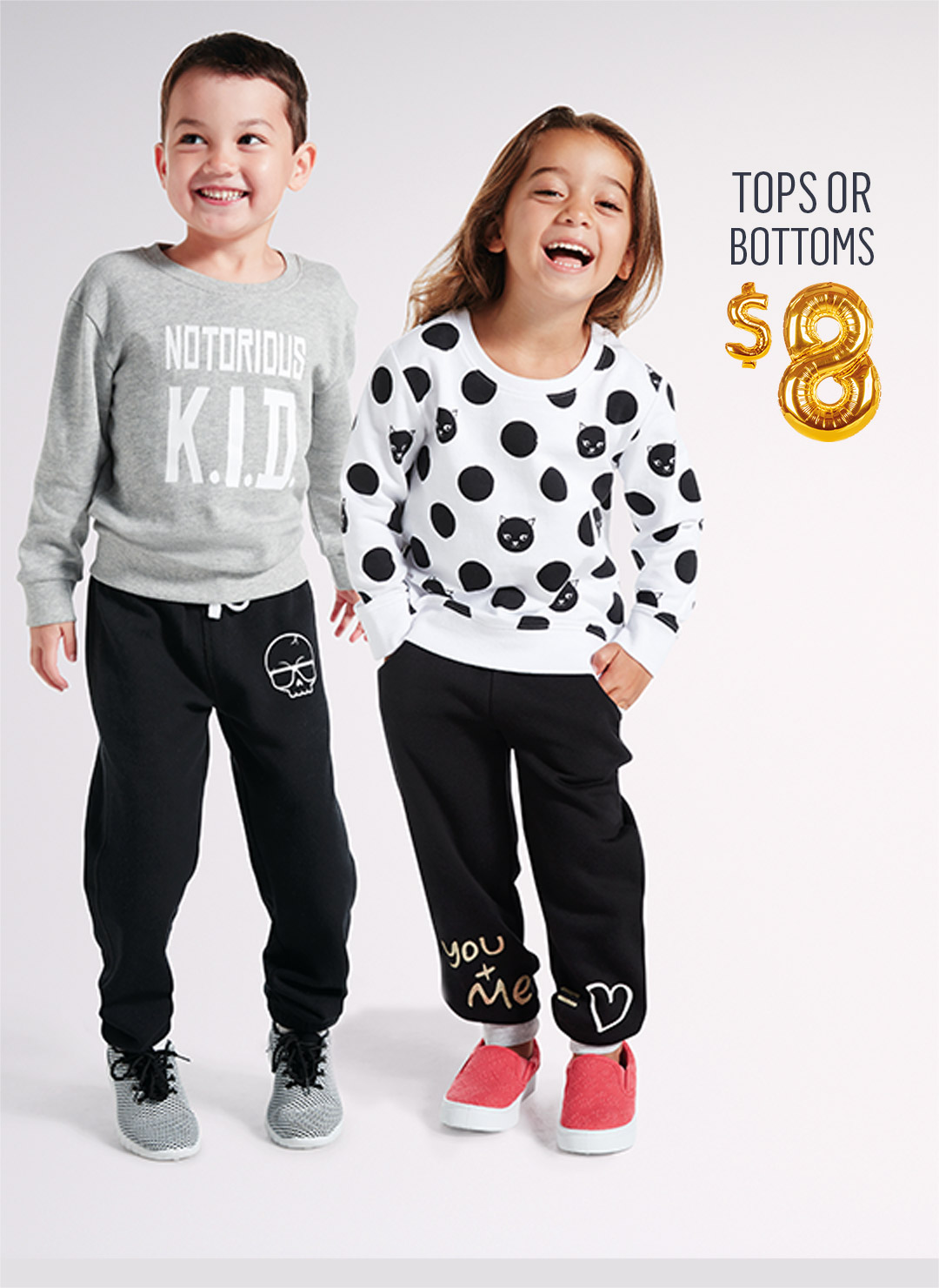 Kids Fashion Tops or Bottoms $8