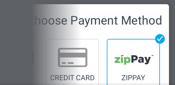 Simply select ZipPay in checkout