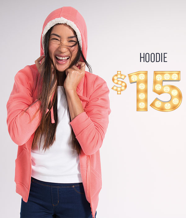 Women's sherpa fleece hoodies $15