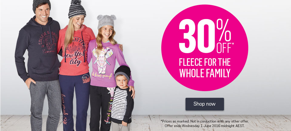 30% Off Fleece