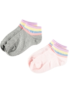 Girls Low Cut Jacquard Socks