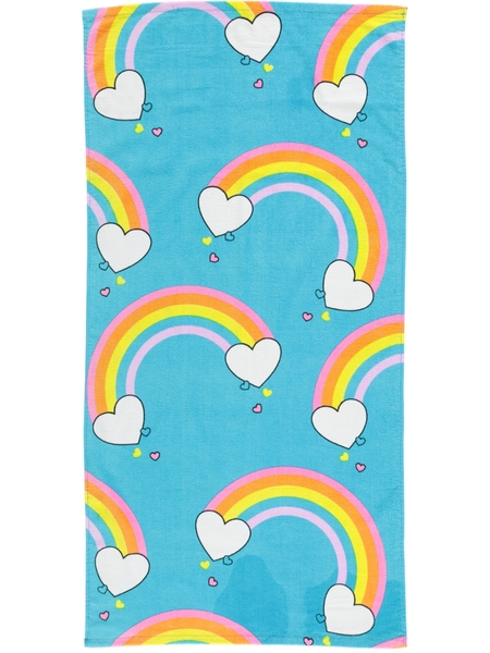Kids Rainbow Velour Beach Towel