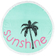 Adult Round Velour Sunshine Beach Towel