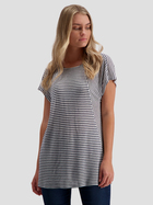 Womens Extended Sleeve Stripe Tee