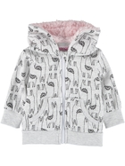 Toddler Girls Fleece Hoodie-Sherpa Lined Hood