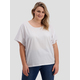 Womens Plus Oversized Extended Sleeve Tee