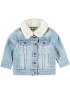 Toddler Girls Denim Sherpa Jacket