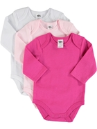 Baby 3 Pack Long Sleeve Bodysuits