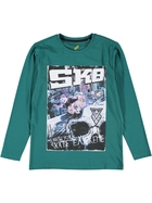 Boys Long Sleeve Photo Tee