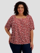 Womens Plus Square Neck Gypsy Top