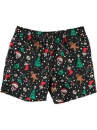 Youth Boys Christmas Print Volley Shorts