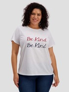 Plus Slogan Print Tee Womens
