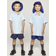 SKY BLUE KIDS TEFLON PROTECTED COTTON POLO