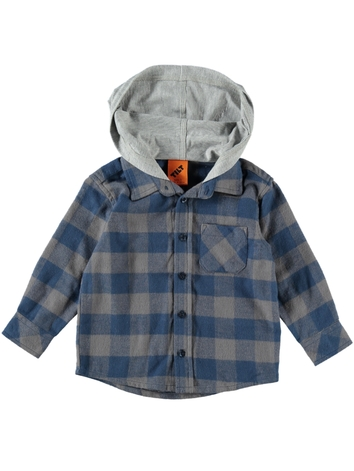 41120ed1c Toddler Boys Flannelette Hooded Shirt | Best&Less™ Online