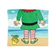 Kids Christmas Hooded Towel-Beach Elf