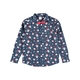 Youth Boys Christmas Woven Shirt With Bow Tie