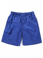 BROWN BOYS CARGO DRILL SHORTS